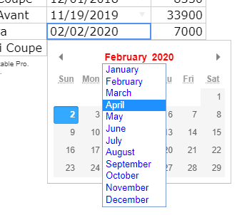 Css property of date picker - Questions - Handsontable Forum