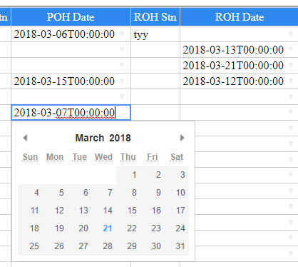 How to display date correctly in